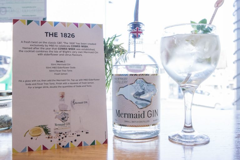 Photograph of the Gin Bar at M&S
