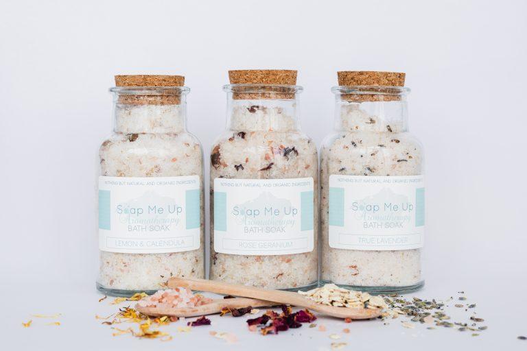 Soap Me Up bath salts, commercial photography shoot