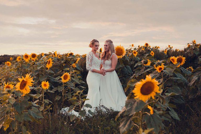 Beautiful Sunflower Wedding Photography from Lucy Boynton Photograophy